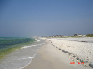 Over three miles of pristine beach at Topsail Hill Preserve State Park